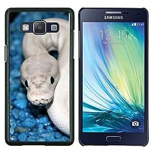 YiPhone /// Prima de resorte delgada de la cubierta del caso de Shell Armor - Serpiente Azul Blanco cobra blanca Veneno - Samsung Galaxy A5 A5000
