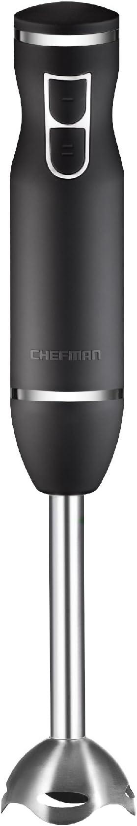Chefman Immersion Stick Hand Blender Includes Stainless Steel Shaft & Blades