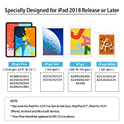 Stylus Pen with Palm Rejection, DIGIROOT Active Stylus for Apple iPad 2019(7th Gen)/iPad 2018(6th Gen)/iPad Pro 3rd Gen/iPad Mini 5th Gen/iPad Air 3rd Gen, No Bluetooth Required, Come with Extra 2 R