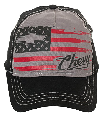 Artisan Owl Chevy Chevrolet USA Flag Freedom Baseball Cap Hat - Officially Licensed