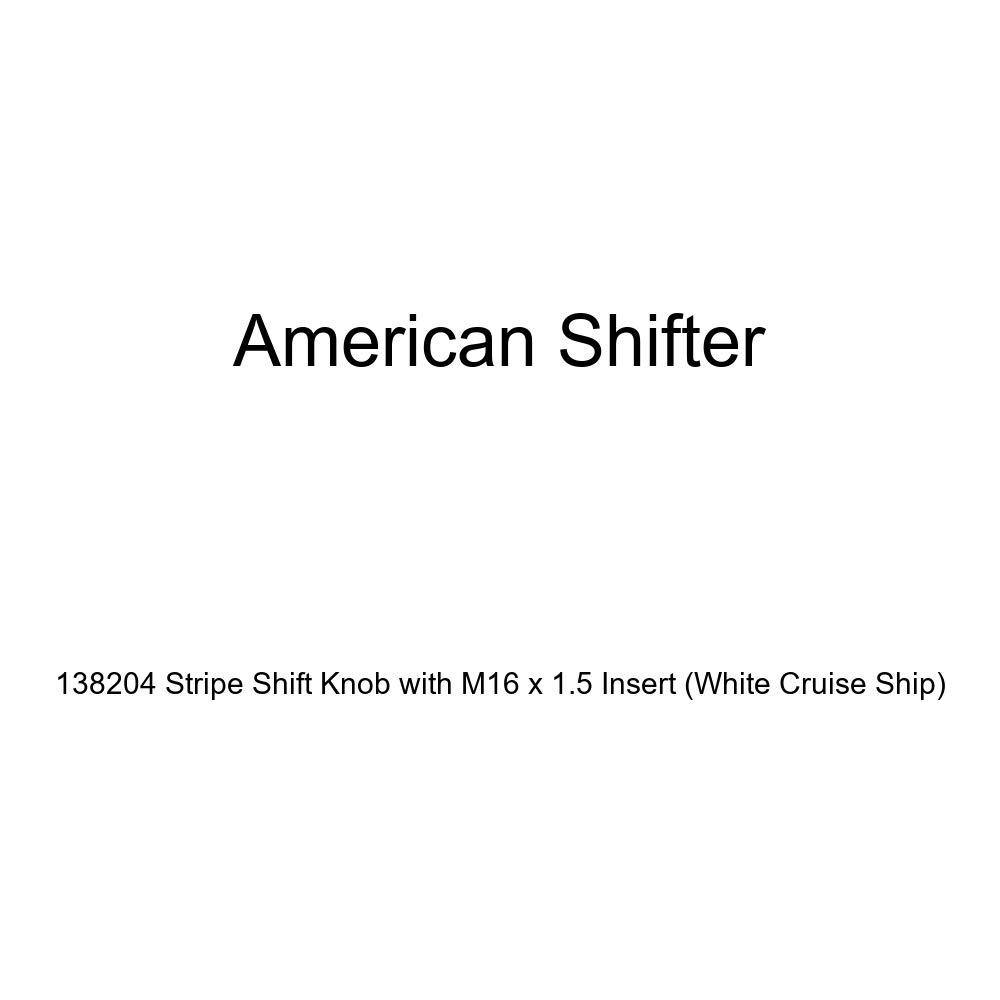 American Shifter 138204 Stripe Shift Knob with M16 x 1.5 Insert White Cruise Ship