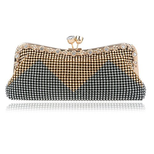 Clutch Bag Gray Black Diamond Women's Color Handbag Shoulder Banquet Bag KERVINFENDRIYUN Purse Evening AZIBAa