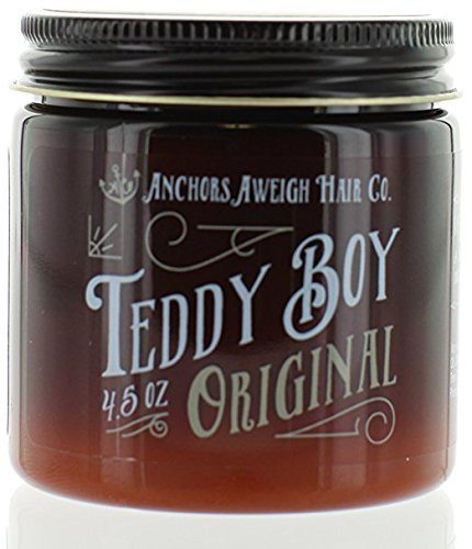 Anchors Hair Company Teddy Boy Original Water Based Styling Pomade, 4.5 oz. (Original Pomade)