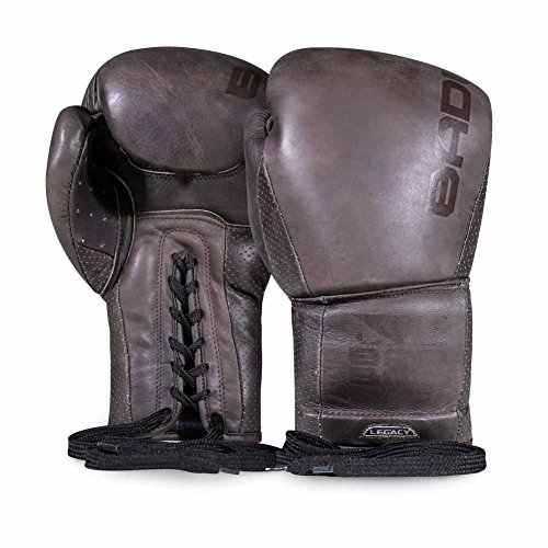 Bad Boy Legacy Premium Cowhide Leather Professional Lace Up Boxing Gloves Tobacco Brown - 16 oz ()