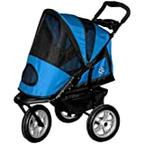 Pet Gear AT3 Generation 2 All-Terrain Pet Stroller for cats and dogs up to 60-Pounds, Blue Sky