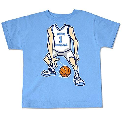 College Kids NCAA North Carolina Tar Heels Toddler Basketball Tee, Blue Mist