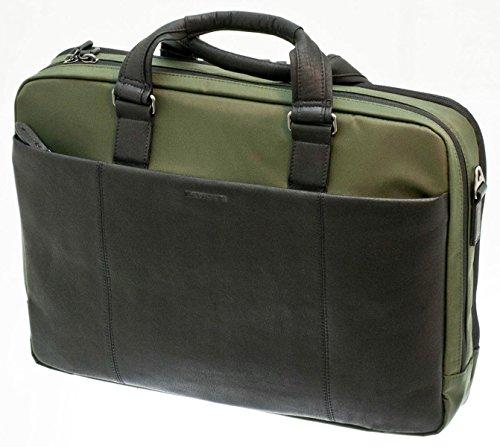 Davidts Berckely Echt Leder Aktentasche Laptoptasche Business Bag Umhängetasche Arbeitstasche Schwarz Grün 452 073 Bowatex