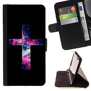Dragon Case- Caja de la carpeta del caso en folio de cuero del tirš®n de la cubierta protectora Shell FOR LG Optimus G2 D800 D801 D802 D803 VS980 F320- OMG God Cross Jesus Space