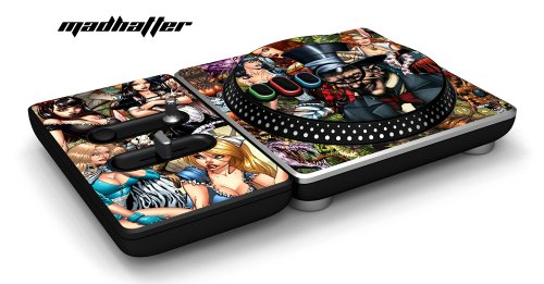 New DJ Hero Turntable Controller Protective Skin, Fits Xbox 360, Playstation 2 & 3 - Mad Hatter