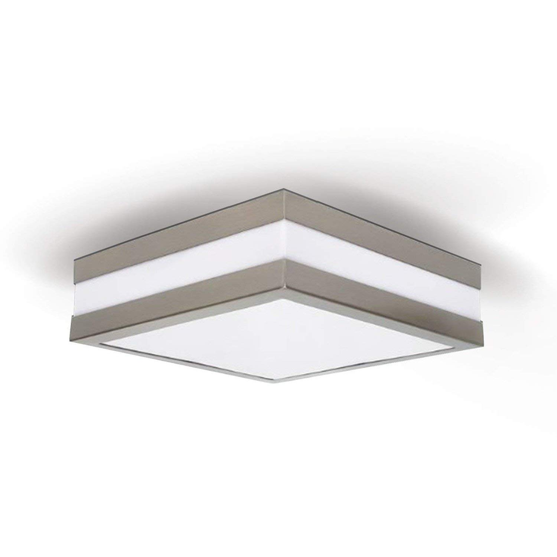Provance IP44E27lampada soffitto plafoniera led lampada da parete per LED & ESL moderno Quadratisch mit 2X LED 6W (2 x 470lm) [Classe di efficienza energetica A+] JVS-Handel PROVANCE-Q-6W