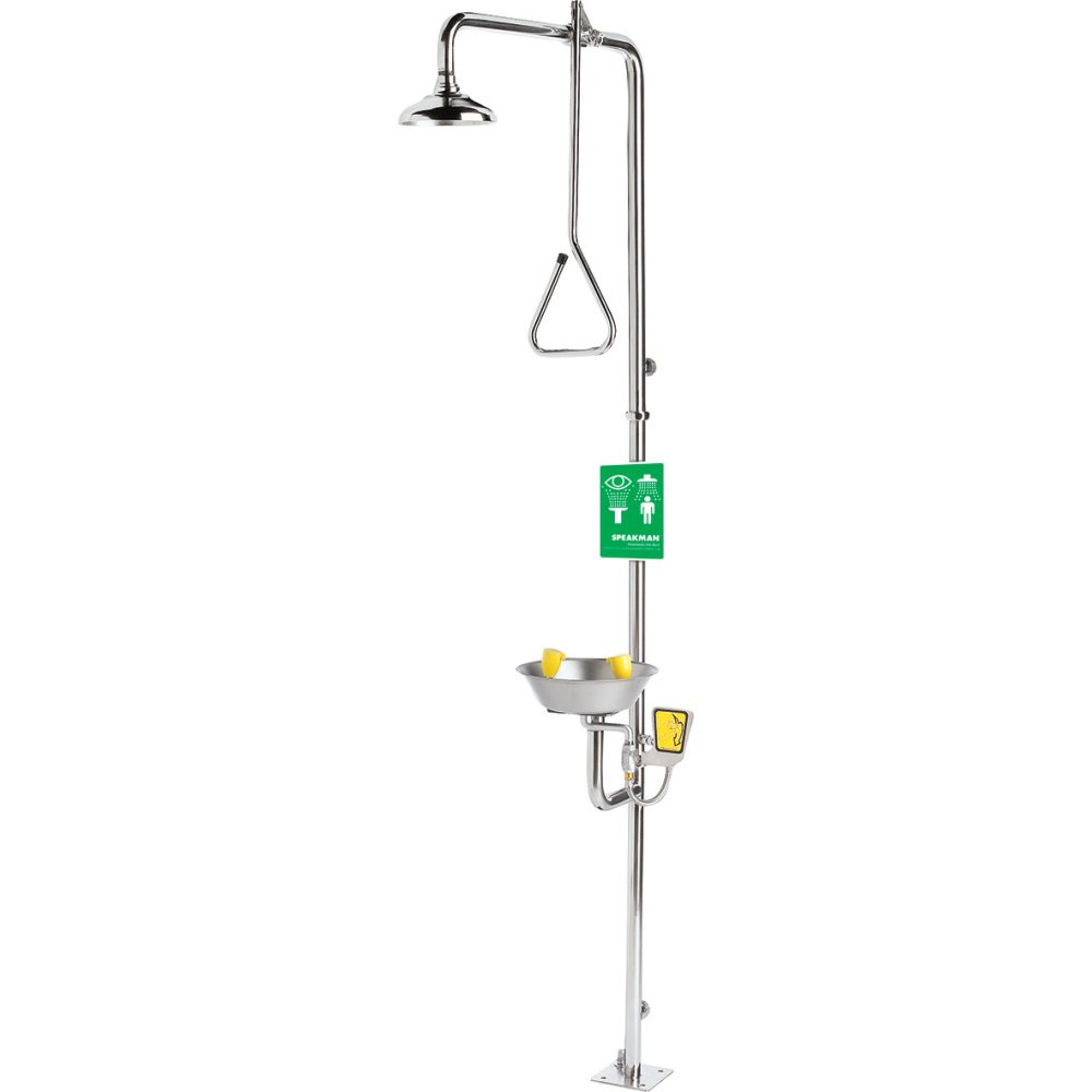 Speakman SE-625 Traditional Series Combination Emergency Shower with Eye/Face Wash