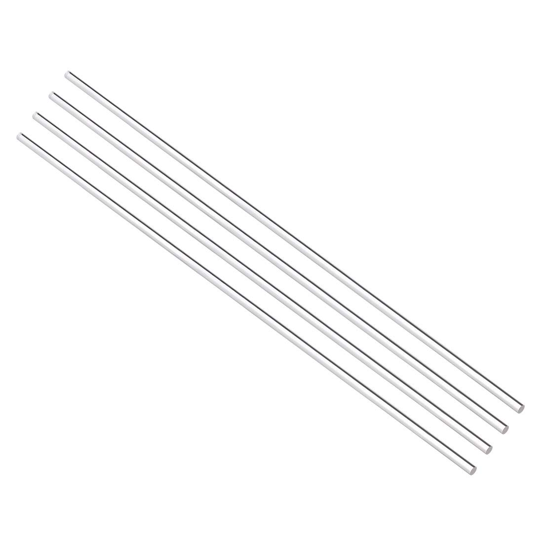 sourcing map 4mmx250mm Round Shape Solid Acrylic Rod PMMA Extruded Bar Clear 4Pcs