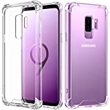 Samsung Galaxy S9 Plus Case, MoKo Crystal Clear TPU Bumper Cushion Cover with Reinforced Corners, Anti-scratch Hard PC Transparent Back Panel for Samsung Galaxy S9 Plus 6.2 Inch - Crystal Clear