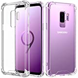 Samsung Galaxy S9 Plus Case, MoKo Crystal Clear Reinforced Corners TPU Bumper Cushion + Anti-Scratch Hybrid Rugged Transparent Panel Cover for Samsung Galaxy S9+ 6.2 Inch 2018 – Transparent For Sale