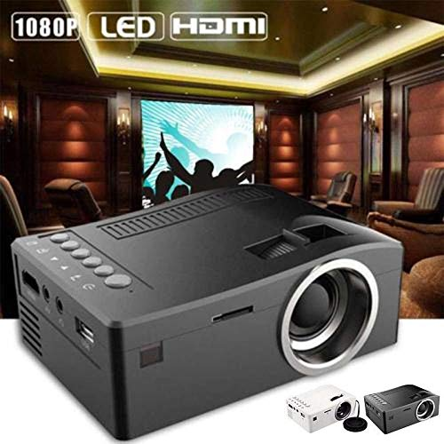 YIGEYI 1080P HD Home Multimedia Cinema Theater Mini LED Projector USB TV HDMI US/EU/UK The Perfect one for You (Color : White, Size : UK Plug) from Generic