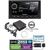 Rockford Fosgate PMX-8DH Wired Remote with Display and PMX-8BB Hideaware Digital Media Receiver and SiriusXM SXV300v1 Satellite Radio Tuner with Lightening to USB Adapter and FREE SOTS Air Freshener