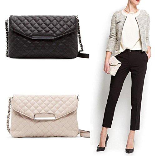 Metal Crossbody Flap Grained Bag Handbag Classic Double Chain Women's Black Beige Shoulder Designer Quilted UwAZx0pq