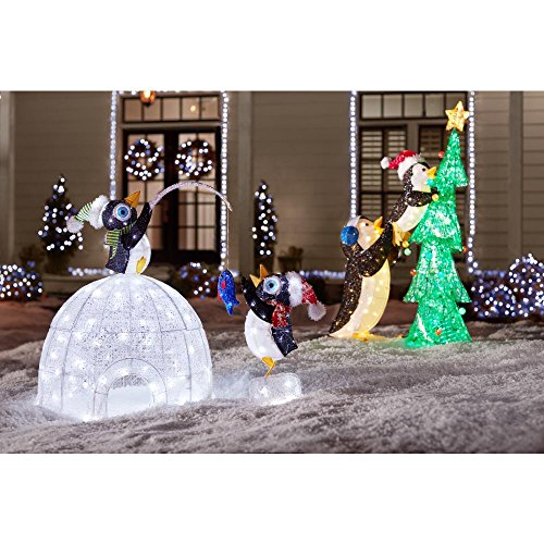 48'' LED Penguin Igloo Penguins Christmas Decoration by Home Accents (Image #4)
