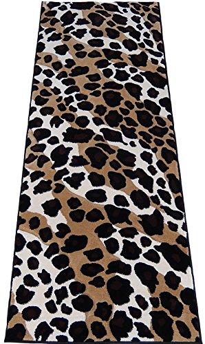 Cheetah Skin Runner 3x8 Area Rug Black Animal Print Actual Size 2'7 x 7'4