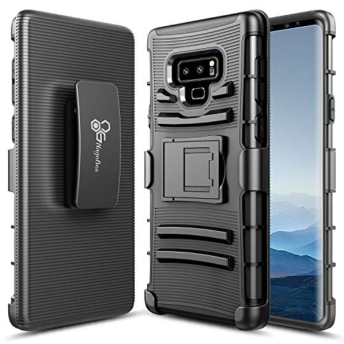 NageBee Case for Samsung Galaxy Note 9 with Soft Screen Protector (Full Coverage), Belt Clip Holster Heavy Duty Armor Shockproof Kickstand Dual Layer Rugged Durable Combo Case -Black