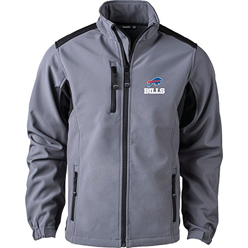 Dunbrooke Apparel NFL Buffalo Bills Men's Softshell Jacket, 2X, Graphite
