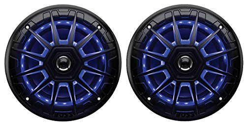 BOSS Audio MRGB65B 200 Watt (Per Pair), 6.5 Inch, Full Range, 2 Way Marine Speakers, (Sold In Pairs) Multi Color LED Illumination with Wireless Radio Frequency Remote
