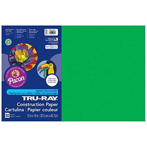 Tru-Ray PAC103038BN Construction Paper, Festive Green, 12