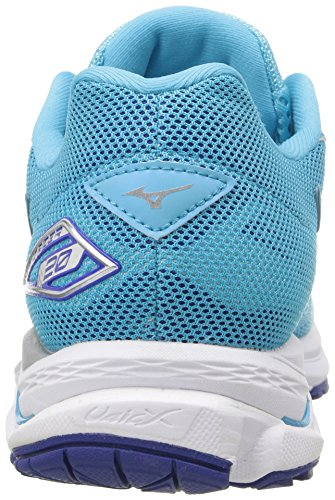 Wave Rider Mizuno Silver Atoll 20 D White Running Blue Women's Shoes q7SCwH