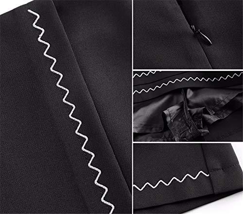 Femme Taille De Irrgulire t JJNZD Automne Slim Haute Une Jupes Jupe Mot noir Minceur Jupe qUpwIE