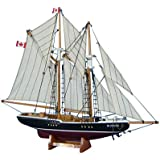 "Bluenose 17"" - Wooden Model Yacht - Sailboat Centerpiece - Nautical Gift - Canadian Racing Schooner - Model Ship - Small Wood Sailboat - Not A Model Kit"
