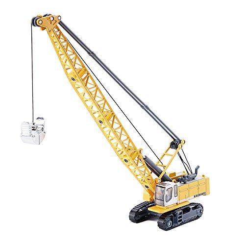 KDW 1/87 Scale Die-Cast Digging Cable Crane Excavator Alloy Construction Equipment Models