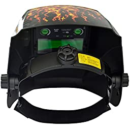 Antra AH6-260-6104 Solar Power Auto Darkening Welding Helmet with AntFi X60-2 Wide Shade Range 4/5-9/9-13 with Grinding Feature Extra lens covers Good for TIG MIG MMA Plasma