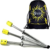 3x PULSAR Fire Juggling Torches Pro Juggling Fire Torch Set of 3 + Flames N Games Travel Bag! Exellent Training set of Torches for Fire Juggling!