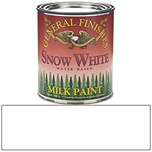 General Finishes QSW Milk Paint, 1 quart, Snow White