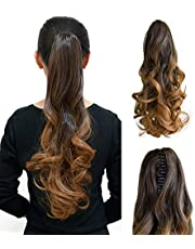 "TODO Ombre Brown High Grade Ponytail Clamp Wavy 20"" Hair Extension Ombreclaw02"