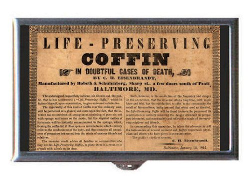1844 Life-Preserving Coffin Coin, Mint or Pill Box: Made in (Coffin Coin)