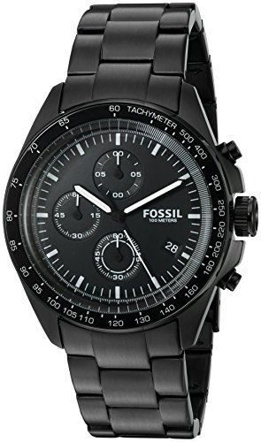 Fossil Men's CH3028 Sport 54 Chronograph Black Stainless Steel Watch