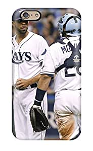 Durable Defender Case For Iphone 6 Tpu Cover(tampa Bay Rays )