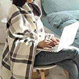 ADSRO Faux Fur Throw Blanket Travel Size Brown for The Bed Brush Fabric Super Warm Office Shawl Double Thick Blanket Wife Girl Gift Winter Spring