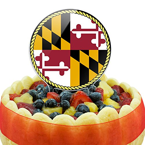 Maryland State Flag Cake Top Topper -