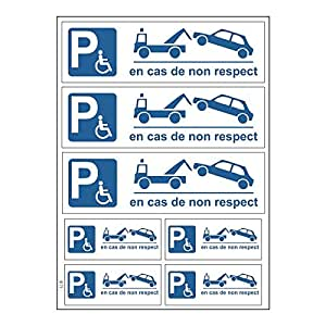Tabla A4 de pegatinas de aparcamiento, en caso de no cumplimiento-B71 autoadhesivo