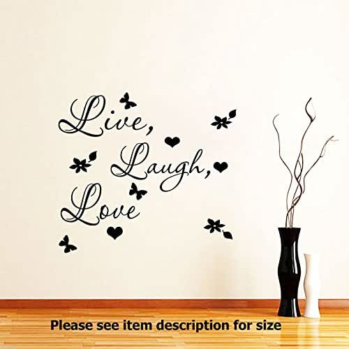 Amazon.com: Live Laugh Love Wall Quote wall Stickers Vinyl Decal Wall Art Home Removable Wall ...