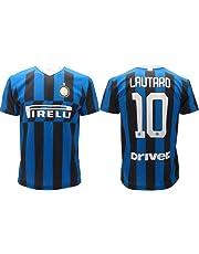 Maglia Inter Lautaro Martinez 10 Maglietta Calcio Prodotto Ufficiale 2019/2020 F.C. Internazionale Bambino Ragazzo Uomo