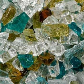 Mosaic Fire Glass - Southwestern Sun (sold in 10 lb bags) (Southwestern Mosaic)