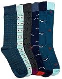 6 Pairs of Mens Dress Socks, Fashion Dress Socks, Dress Socks for Men,Pack C (6 Pairs),Size:8-12