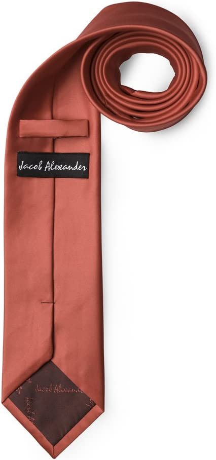 Jacob Alexander Solid Color Mens Regular Tie Pacific Blue