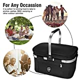 UPBOXN Insulated Cooler Bag Picnic Basket, 26L