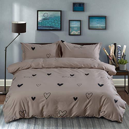 Greenerg Duvet Cover and Pillow Shams 3 Piece Comforter Set, (C1005, King Size (104