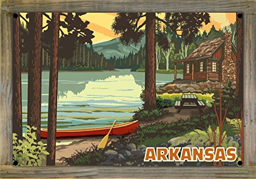 Arkansas Metal Print on Reclaimed Barn Wood by Paul A. Lanquist (12