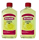 Weiman Lemon Oil Wood Polish [2 Pack] 16 Fluid Ounce - UV Protection, Gently Cleans, Protects, Moisturizes, Restores and Conditions Wood